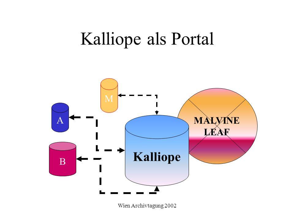 Wien Archivtagung 2002 Kalliope als Portal MALVINE LEAF Kalliope B M A