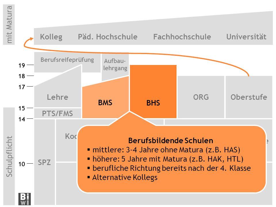 Berufsreifeprüfung Aufbau- lehrgang 10 OberstufeORG mit Matura Kolleg Päd.