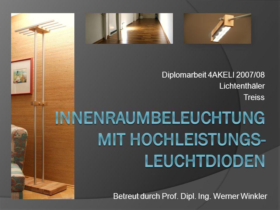 Diplomarbeit 4AKELI 2007/08 Lichtenthäler Treiss Betreut durch Prof. Dipl. Ing. Werner Winkler