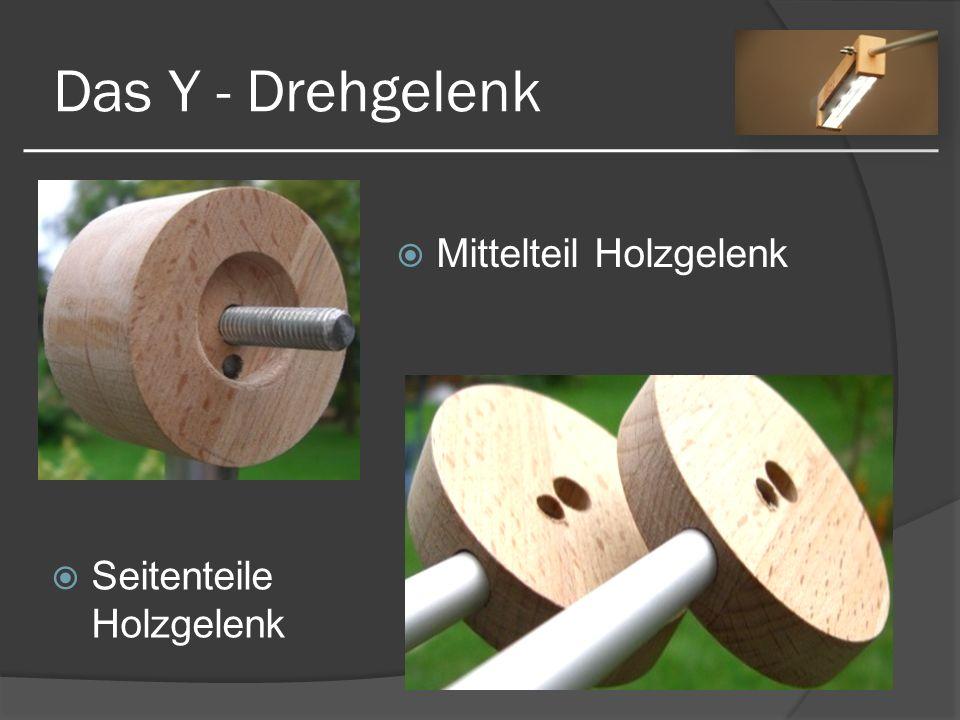 Das Y - Drehgelenk Mittelteil Holzgelenk Seitenteile Holzgelenk