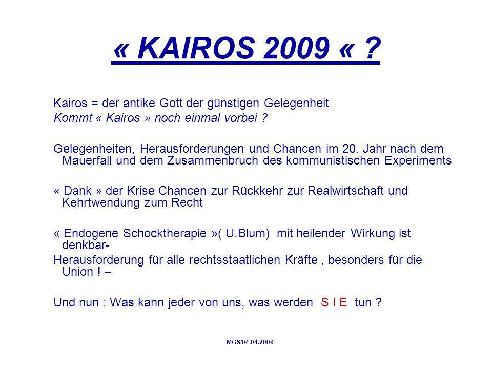 « KAIROS 2009 « .