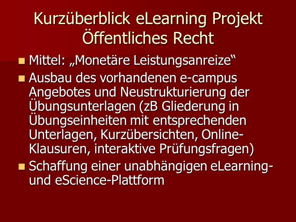 eLearning und eScience Plattform www.publiclaw.at Charakteristika: Charakteristika: 1.