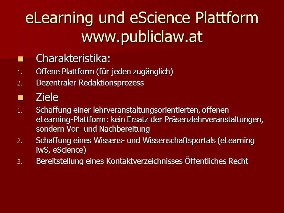 Schaffung einer lehrveranstaltungsorientierten Plattform Schaffung einer lehrveranstaltungsorientierten Plattform 1.