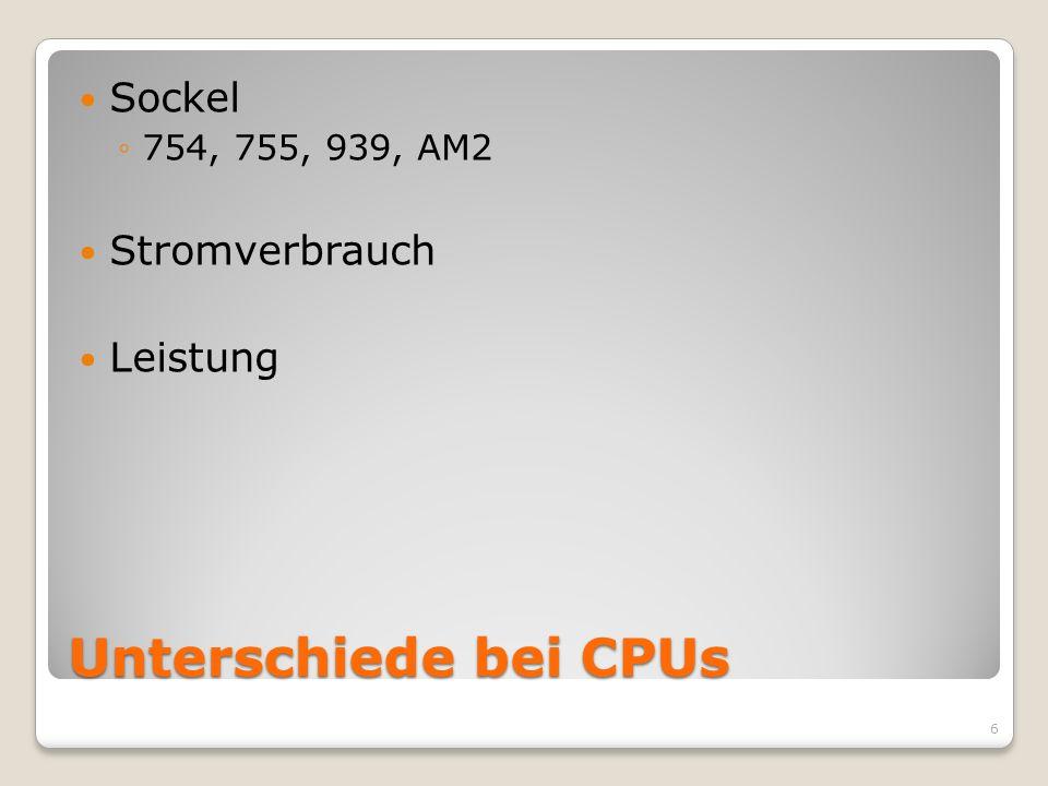Unterschiede bei CPUs Sockel 754, 755, 939, AM2 Stromverbrauch Leistung 6
