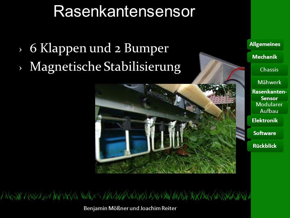 Rasenkantensensor Benjamin Mößner und Joachim Reiter 6 Klappen und 2 Bumper Magnetische Stabilisierung AllgemeinesElektronikChassis Rasenkanten- Senso