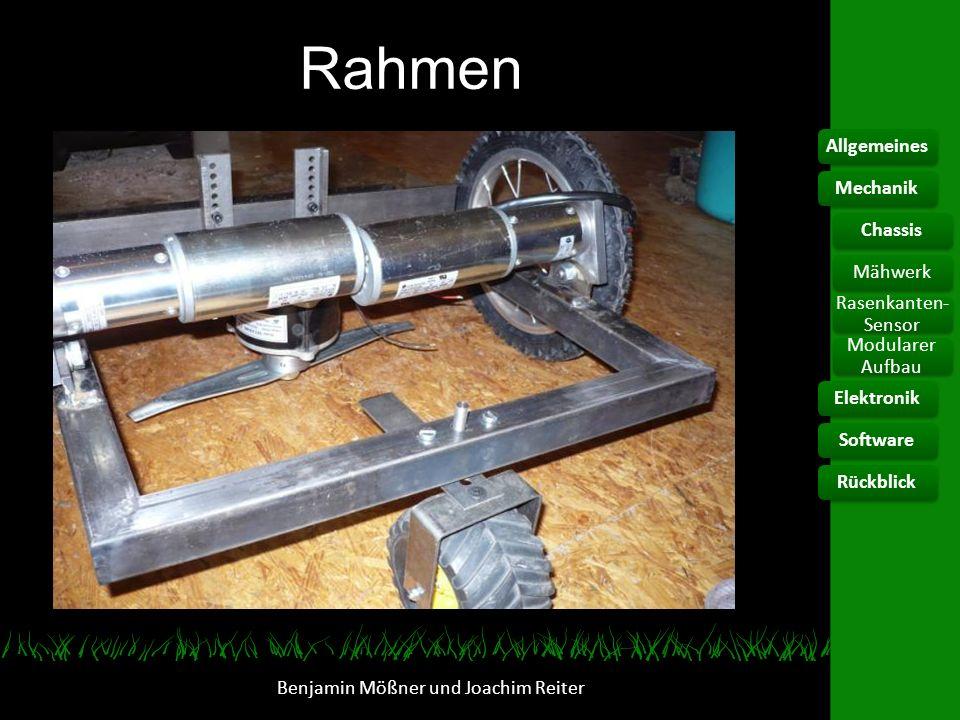 Räder 12 Zoll Laufräder Freilauf / Nabenbremse blockiert Benjamin Mößner und Joachim Reiter AllgemeinesElektronikChassis Rasenkanten- Sensor Modularer Aufbau SoftwareRückblickMechanikMähwerk