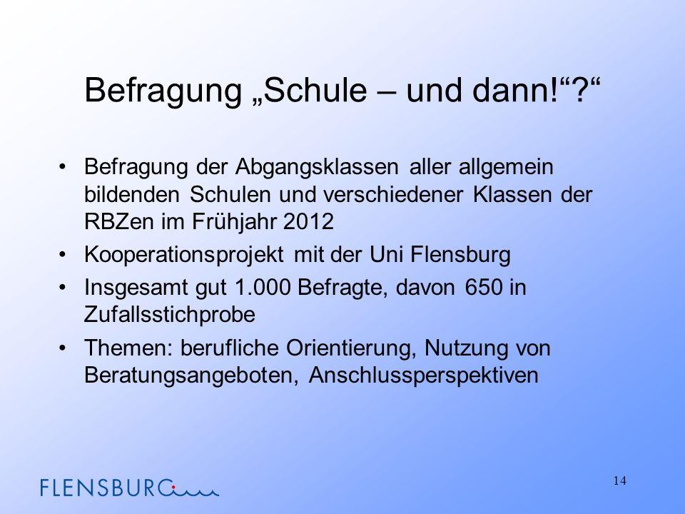 Befragung Schule – und dann!.