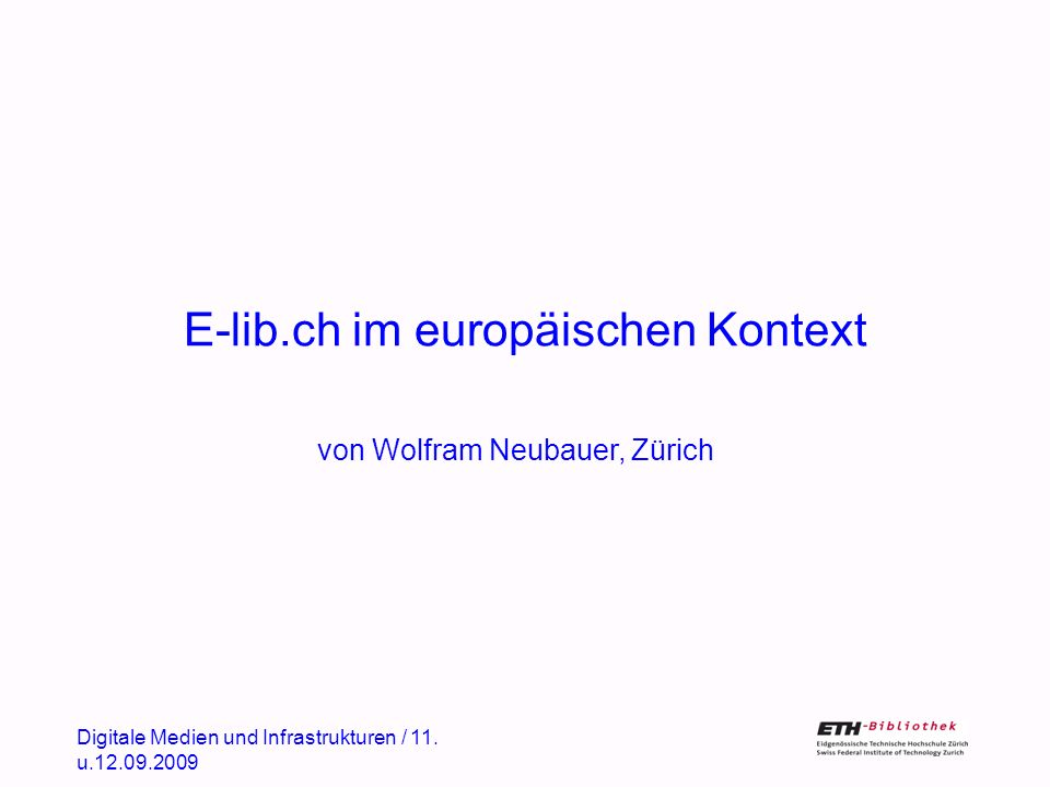 Was ist E-lib.ch.
