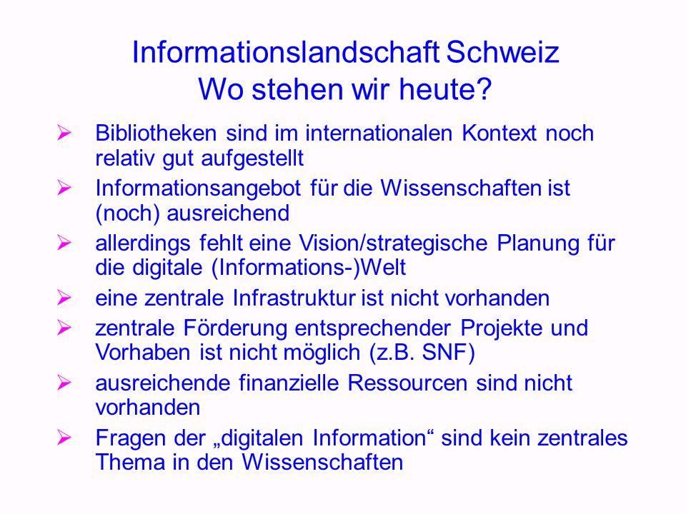 Informationslandschaft Schweiz Wo stehen wir heute.
