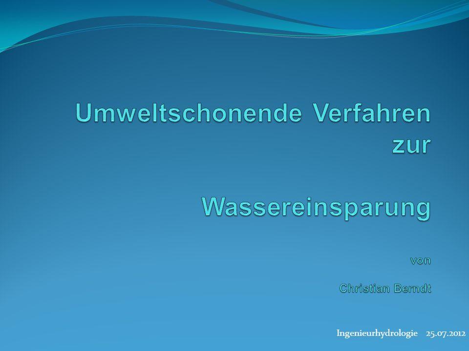 Ingenieurhydrologie 25.07.2012
