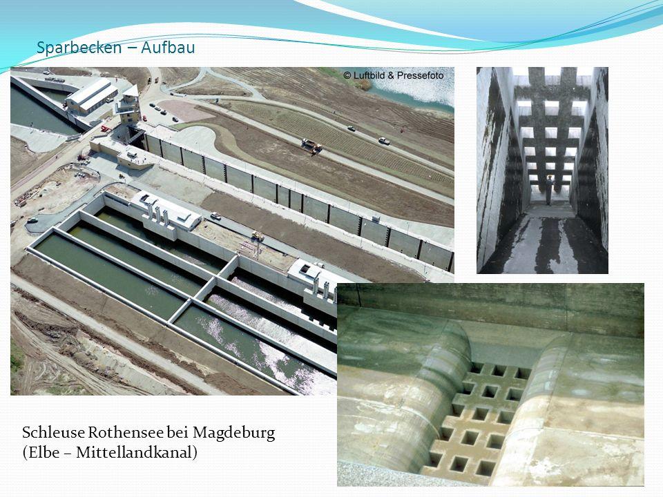 Sparbecken – Aufbau Schleuse Rothensee bei Magdeburg (Elbe – Mittellandkanal)