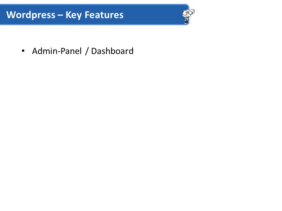 Admin-Panel / Dashboard Wordpress – Key Features