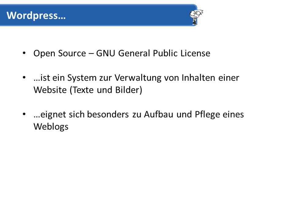 Webspace (> 10 MB) Wordpress benötigt…