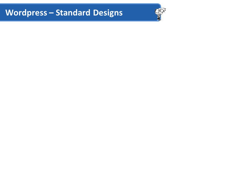 Wordpress – Standard Designs