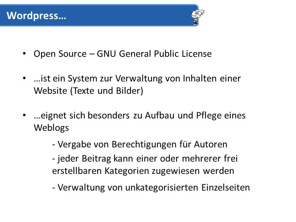 Admin-Panel / Dashboard Wordpress Pages Statische Seiten möglich Wordpress – Key Features