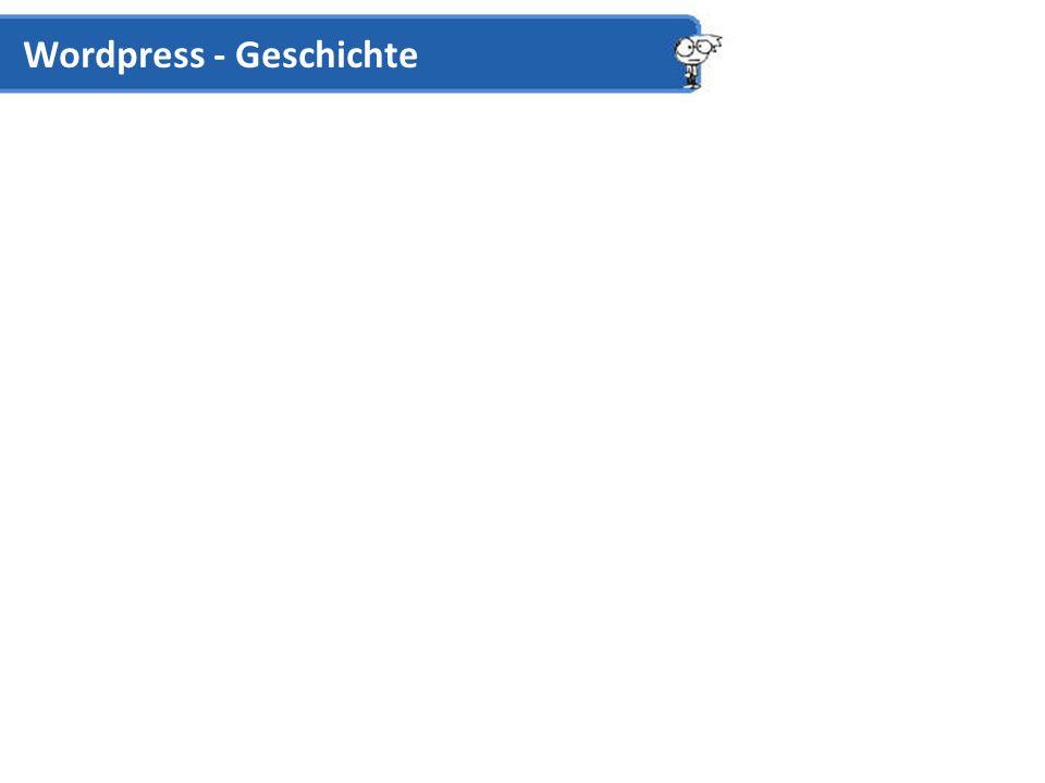 Cross-Blogging Trackback (Verlinken von Blog-Beiträgen) Text Formatting Formatierung in HTML oder WYSIWYG HTML WYSIWYG Easy Password Protection Einzelne Seiten über Admin-Panel Wordpress – Key Features