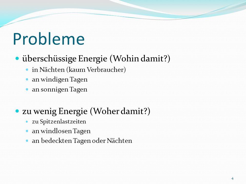 Wirtschaftlichkeit Formel: Gewinn/Verlust= Energie * Verkaufspreis (Strom) * Wirkungsgrad – Energie * Einkaufspreis (Strom) Rechenwerte:Engerie: 10 GWh Einkaufspreis 1: 0,10 /kWhEinkaufspreis 2: 0,20 /kWh Verkaufspreis 1: 0,20 /kWhVerkaufspreis 2: 0,20 /kWhWirkungsgrad des PSW: 80% Lösungen: 1) 600.000 2) -400.000 (berücksichtigt keine weiteren Kosten) 35
