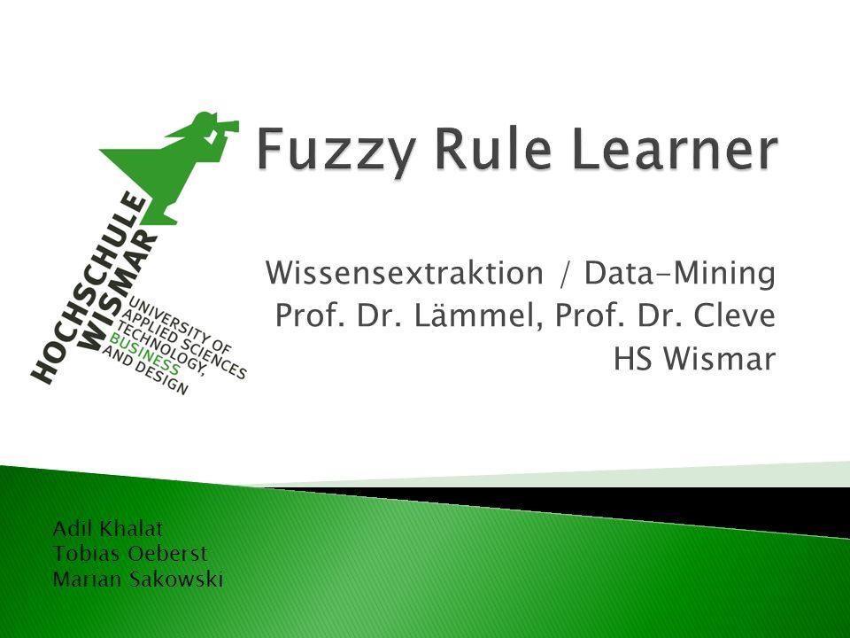 Wissensextraktion / Data-Mining Prof.Dr. Lämmel, Prof.