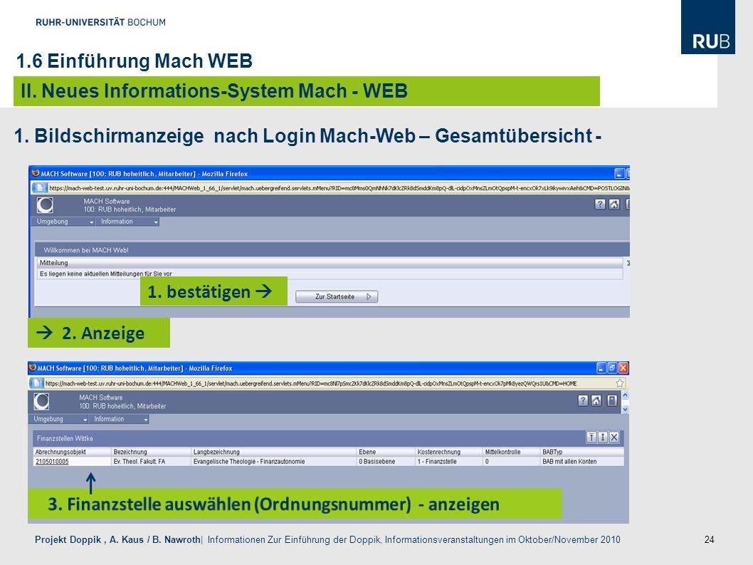 24 Projekt Doppik, A. Kaus / B. Nawroth| Informationen Zur Einführung der Doppik, Informationsveranstaltungen im Oktober/November 2010 1. bestätigen 2