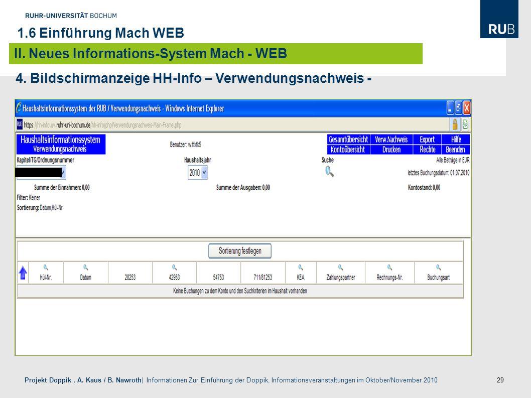 29 Projekt Doppik, A. Kaus / B. Nawroth| Informationen Zur Einführung der Doppik, Informationsveranstaltungen im Oktober/November 2010 4. Bildschirman