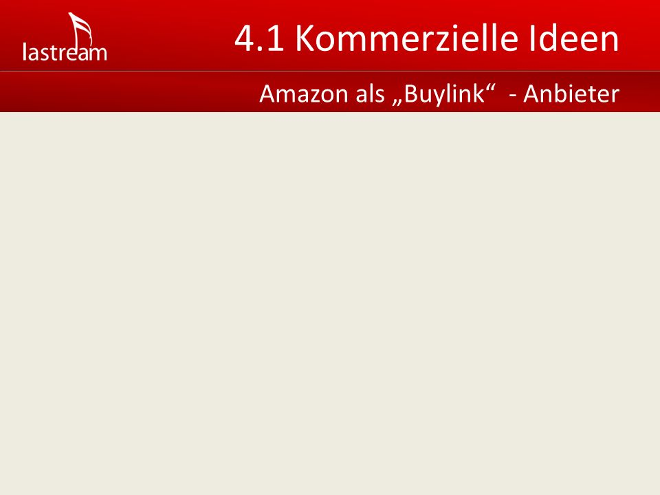 Amazon als Buylink - Anbieter 4.1 Kommerzielle Ideen