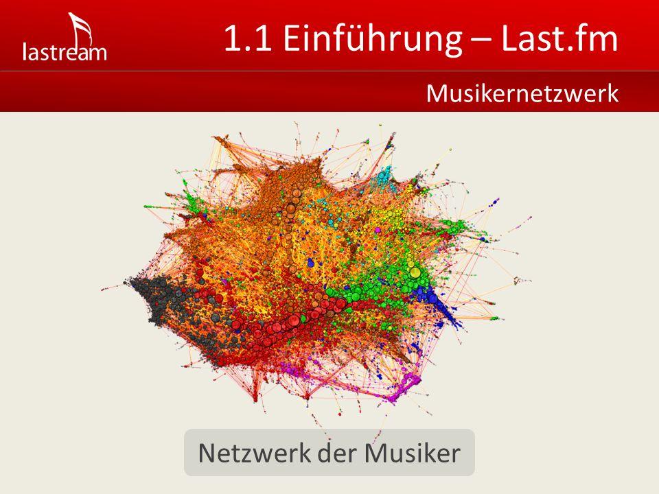 1.1 Einführung – Last.fm Musikernetzwerk Netzwerk der Musiker
