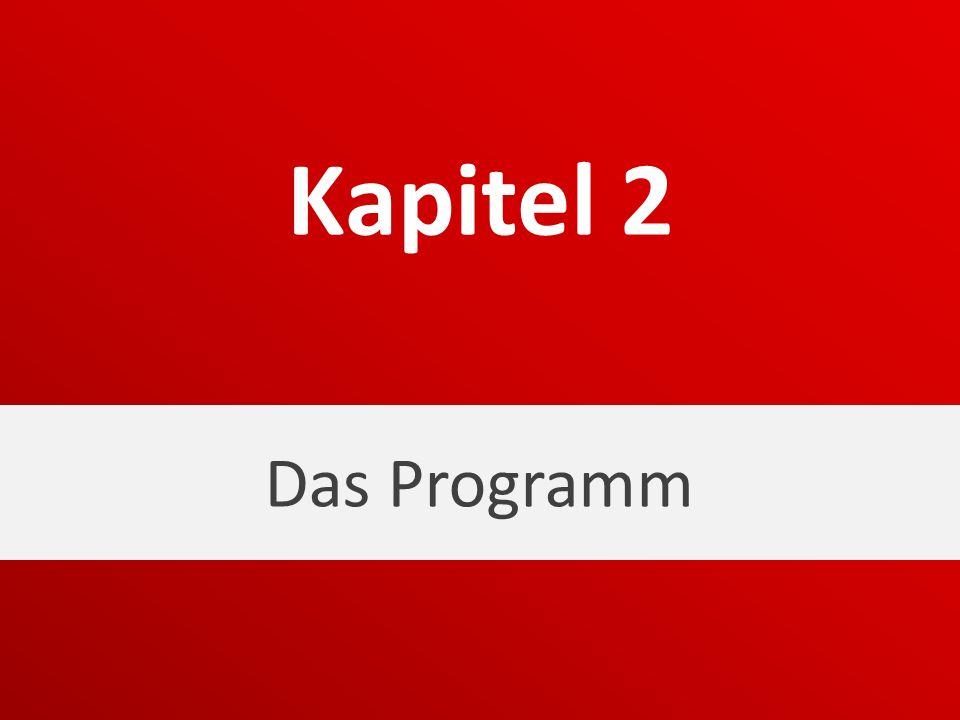 Das Programm Kapitel 2