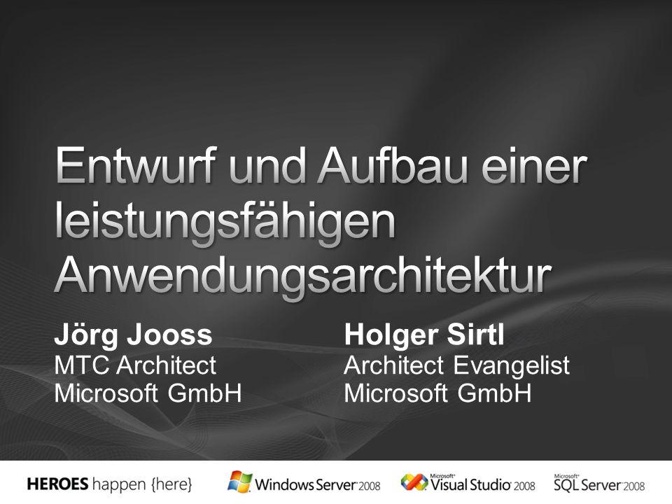 Jörg JoossHolger Sirtl MTC ArchitectArchitect EvangelistMicrosoft GmbH