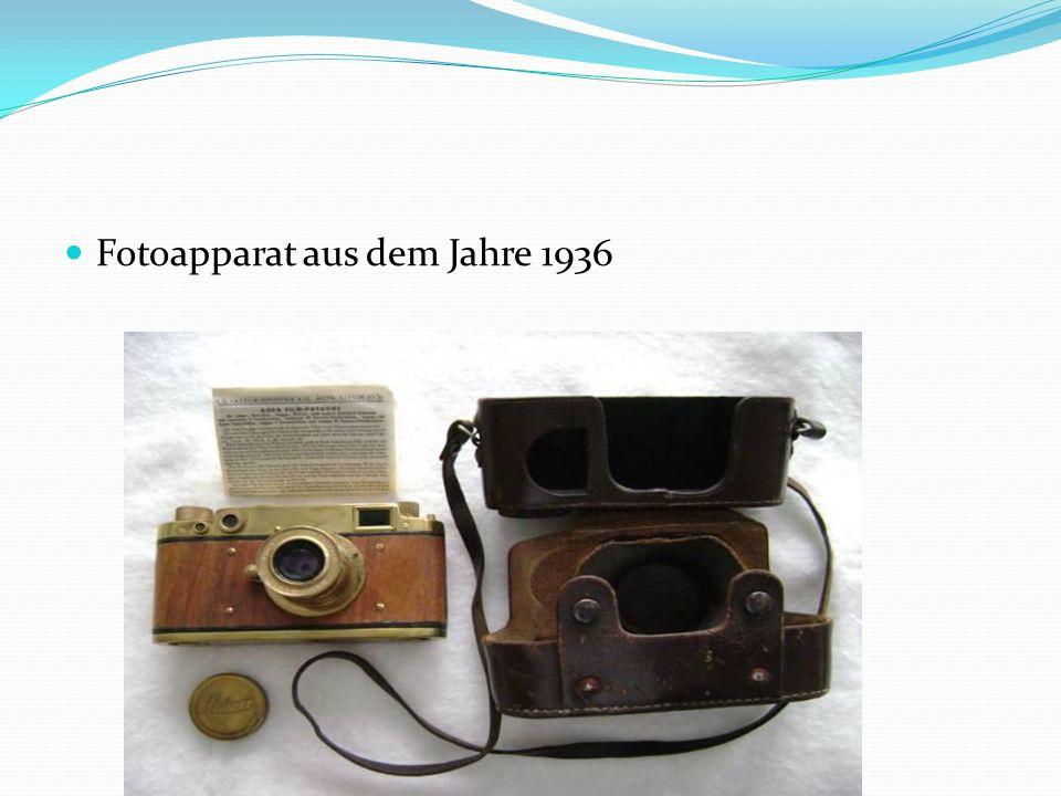 Fotoapparat aus dem Jahre 1936