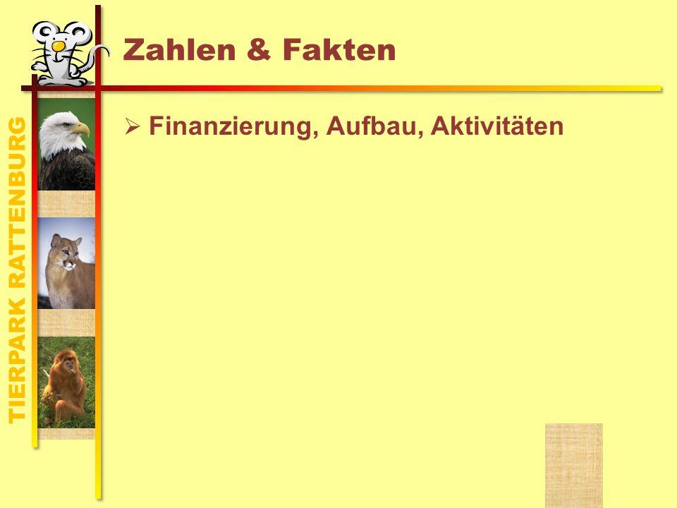 TIERPARK RATTENBURG Zahlen & Fakten Finanzierung, Aufbau, Aktivitäten