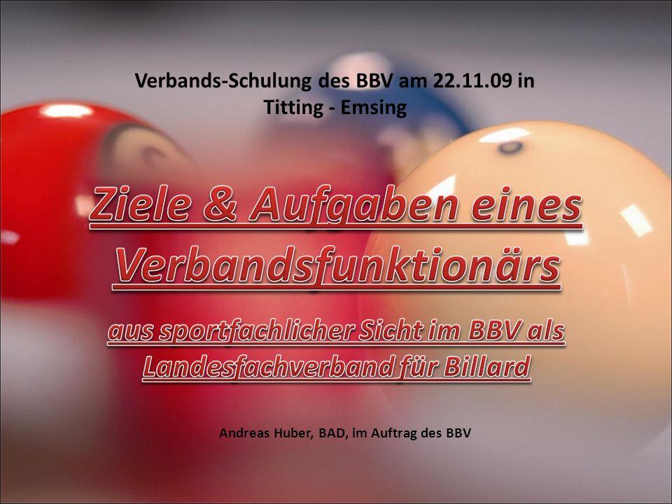 Andreas Huber, BAD, im Auftrag des BBV Verbands-Schulung des BBV am 22.11.09 in Titting - Emsing