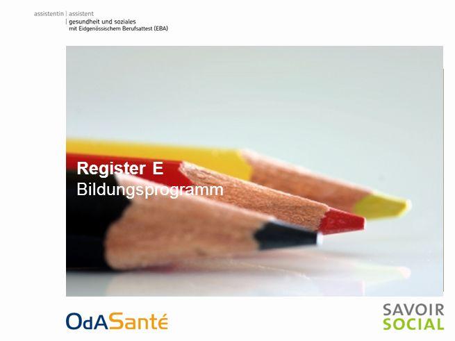 Register E Bildungsprogramm