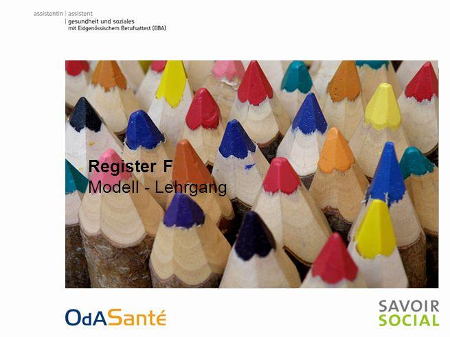 Register F Modell - Lehrgang