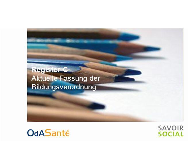 Register C Aktuelle Fassung der Bildungsverordnung