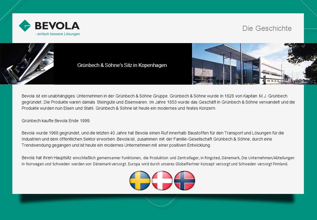 History Bevola ist ein unabhängiges Unternehmen in der Grünbech & Söhne Gruppe. Grünbech & Söhne wurde in 1828 von Kapitan M.J. Grünbech gegründet. Di