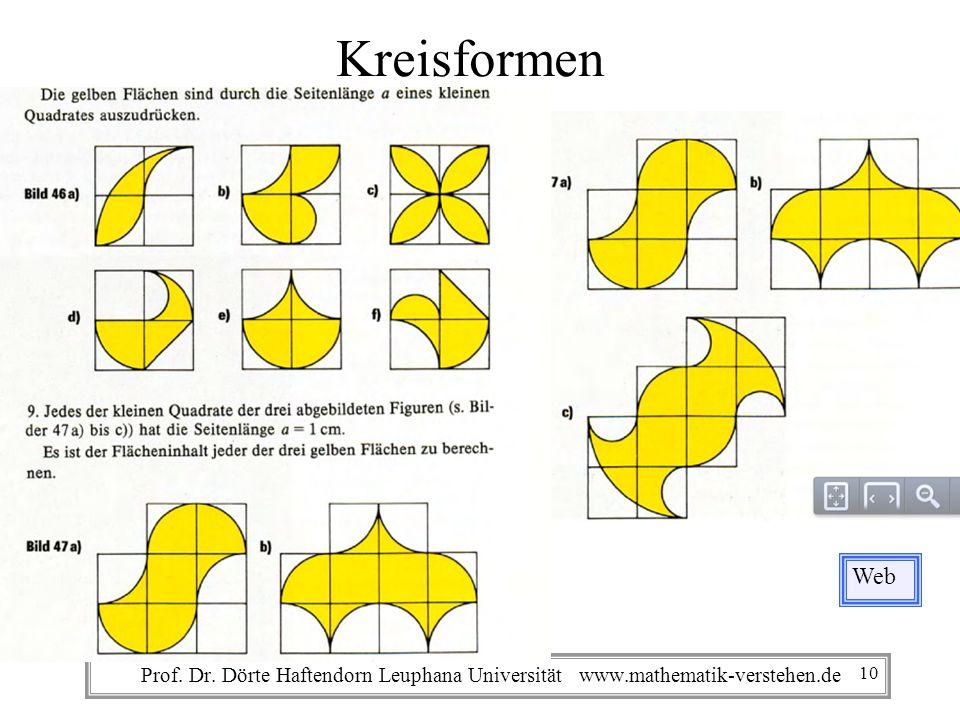 Prof. Dr. Dörte Haftendorn Leuphana Universität www.mathematik-verstehen.de Kreisformen Web 10