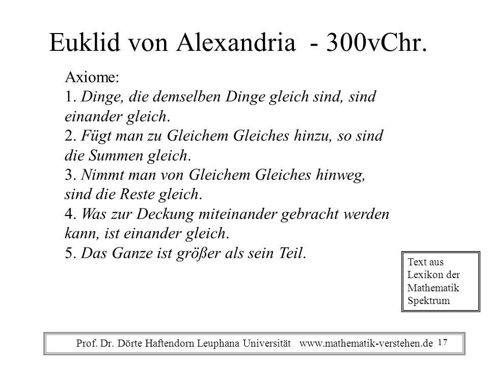 Euklid von Alexandria - 300vChr.Axiome: 1.
