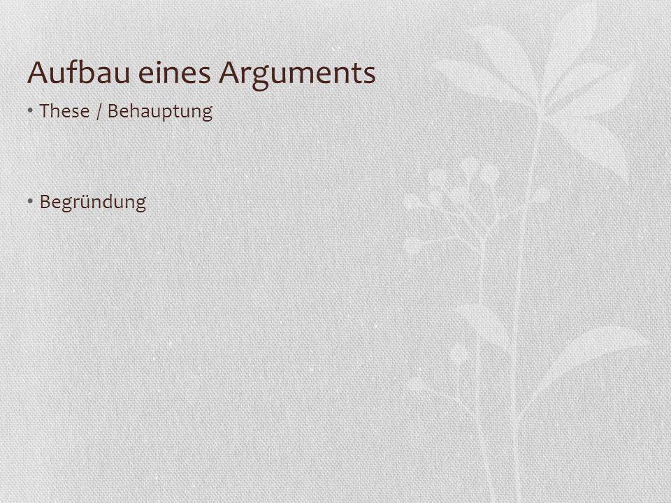 Materialgestütztes Erörtern: Gliederung Bei der Untersuchung eines Phänomens WIE linear Bei einer strittigen Frage