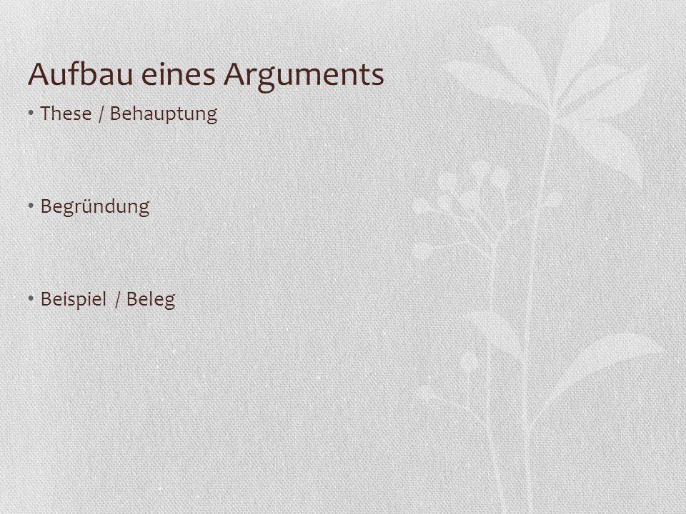 Materialgestütztes Erörtern: Gliederung Bei der Untersuchung eines Phänomens WIE linear Bei einer strittigen Frage OB antithetisch