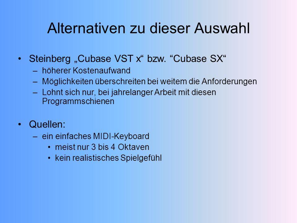 Steinberg Cubase VST x bzw.