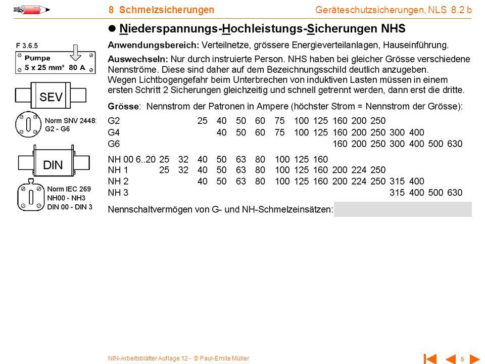 NIN-Arbeitsblätter Auflage 12 - © Paul-Emile Müller 16 10 Motorschutzschalter Bimetall 10.1 b