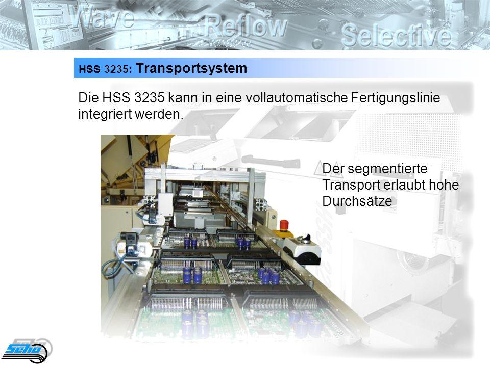 28 HSS 3235: Transportsystem Die HSS 3235 kann in eine vollautomatische Fertigungslinie integriert werden.
