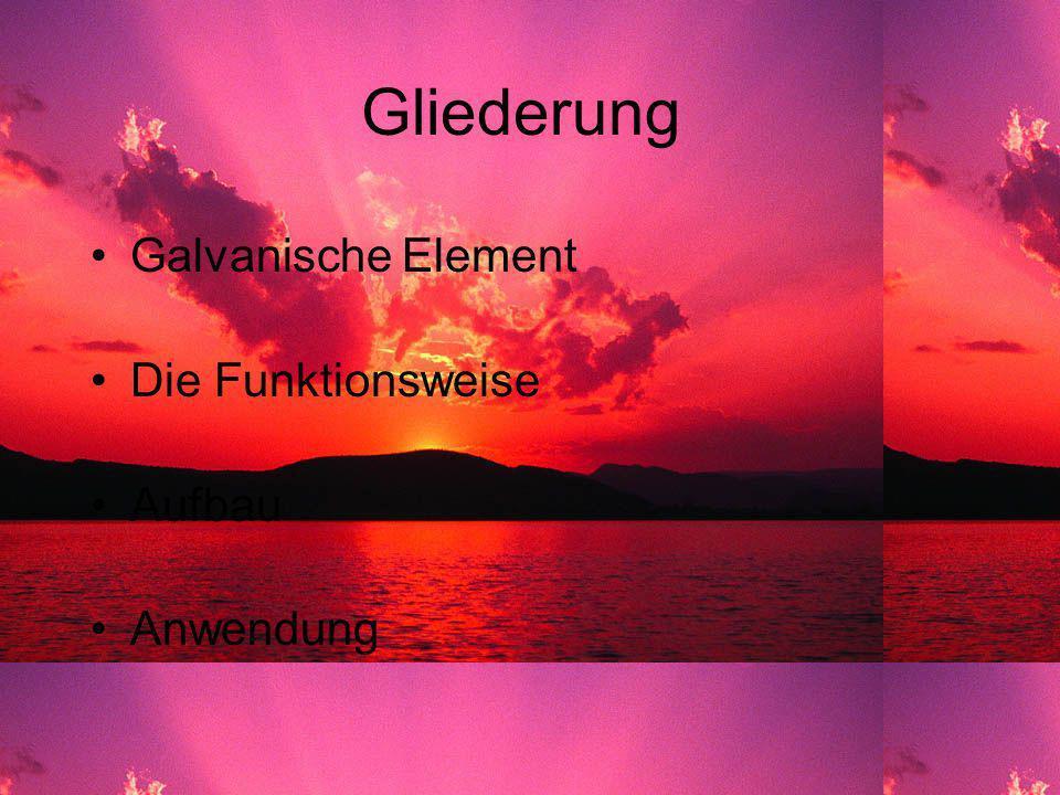 Das Galvanische Element Max Mustermann