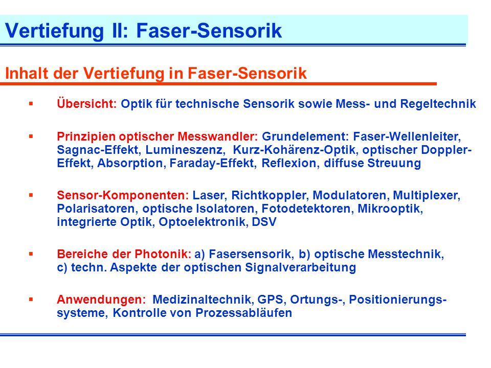 Faser-Sensor Typischer Aufbau eines Faser-Sensor-Systems Umgebungseinfluss, phys.