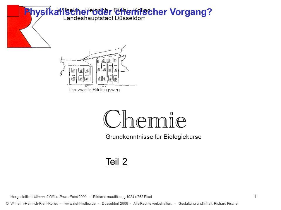 2 2. Holzfeuer Physikalischer oder chemischer Vorgang?