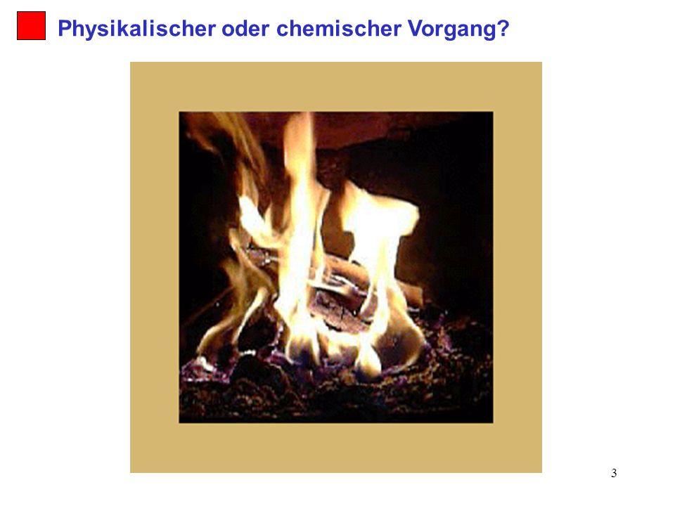 4 2. Holzfeuer Physikalischer oder chemischer Vorgang?
