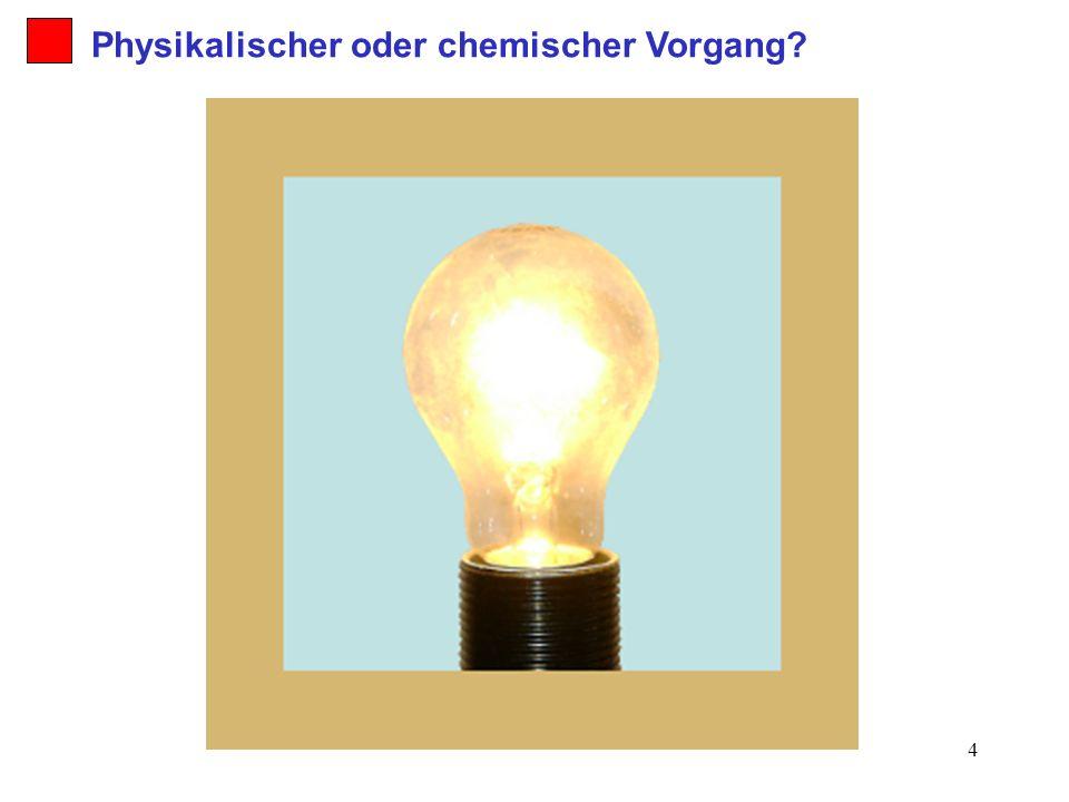 5 2. Holzfeuer Physikalischer oder chemischer Vorgang?