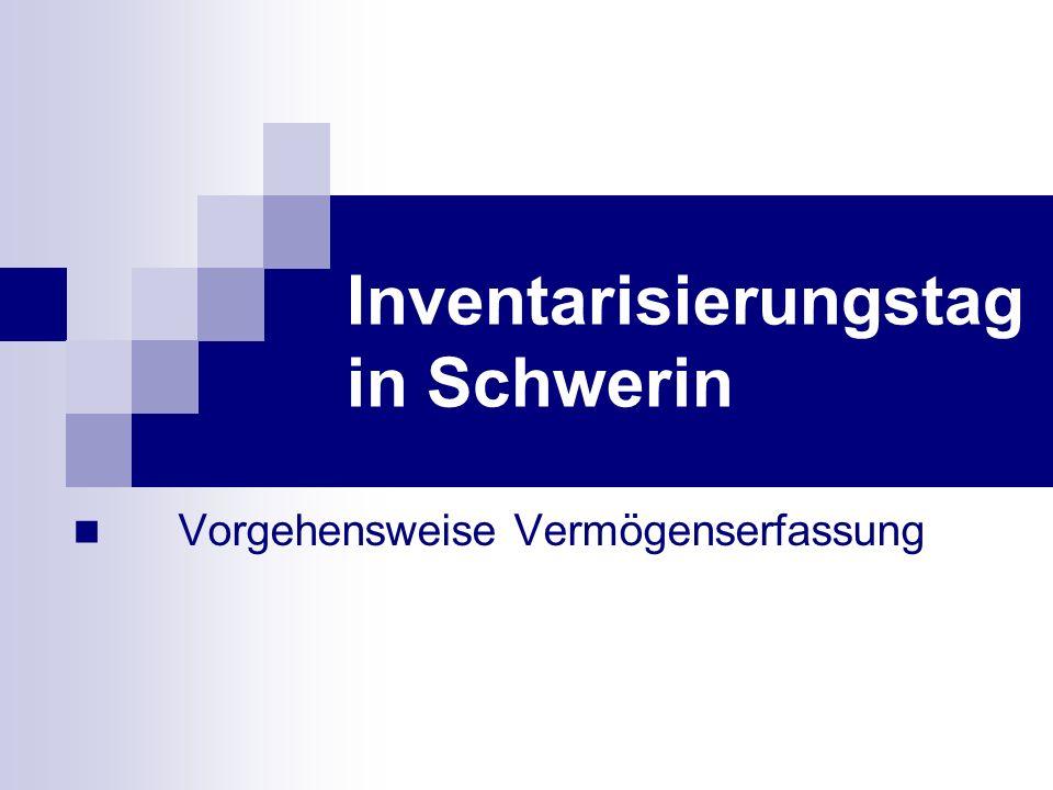 Vorgehensweise Vermögenserfassung Inventarisierungstag in Schwerin