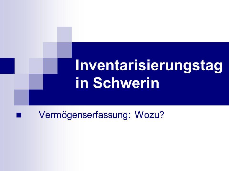 Vermögenserfassung: Wozu? Inventarisierungstag in Schwerin