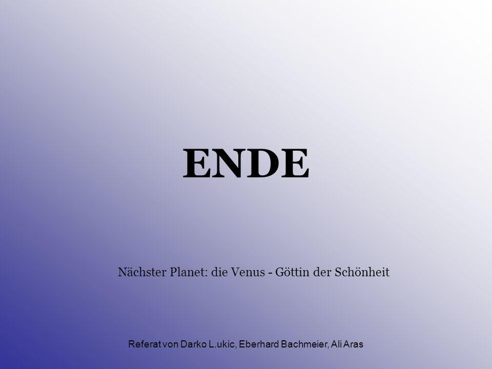 Referat von Darko L.ukic, Eberhard Bachmeier, Ali Aras Aufbau des Planeten II. (Atmosphäre) Chemische Stoffe: 42% Sauerstoff (O 2 ), 29% Natrium (Na),